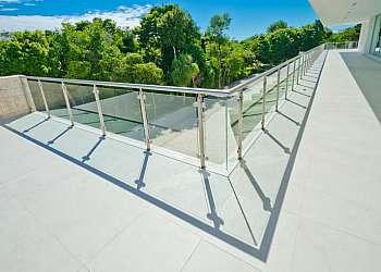 Corrimão de vidro sacada
