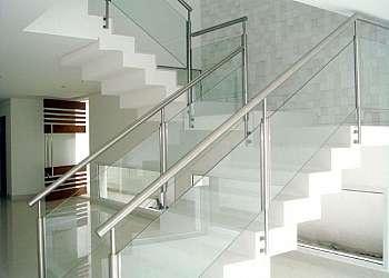 Corrimão de escada vidro